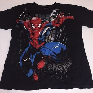 men's spider-man t-shirt size medium black red